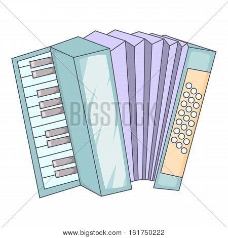 Accordion icon. Cartoon illustration of accordion vector icon for web design