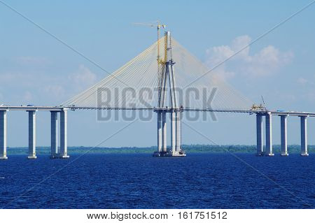 Rio Negro Bridge Under Construction, Circa August 2011