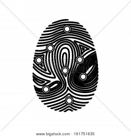 Fingerprint icon. Identity security print and privacy theme. Isolated design. Vector illustration