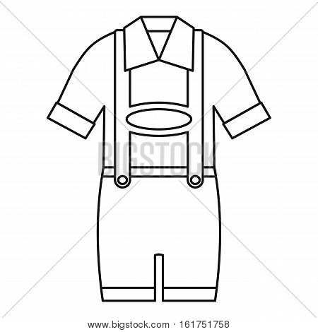 Germany suit icon. Outline illustration of germany suit vector icon for web