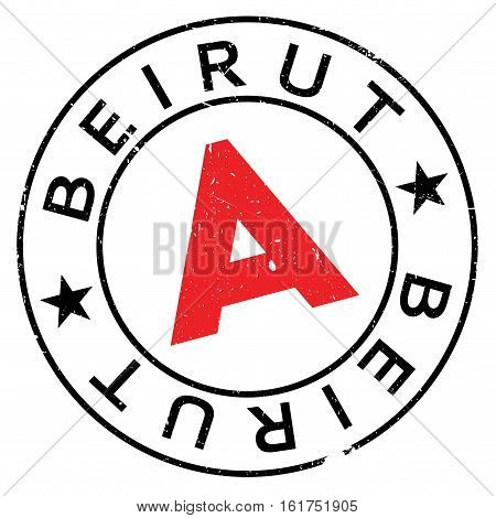 Beirut stamp. Grunge design with dust scratches. Effects can be easily removed for a clean, crisp look. Color is easily changed.