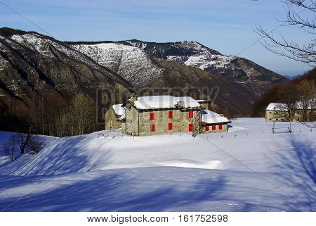 Taburri Hut In The Italian Appennines