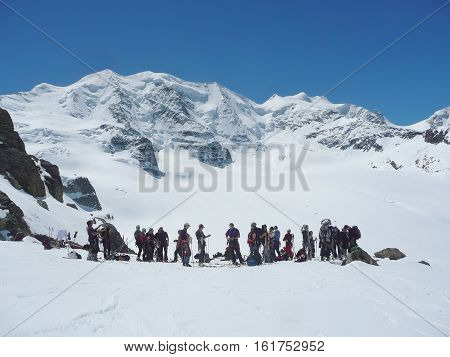 Alpinists Prepare To Climb Piz Palu
