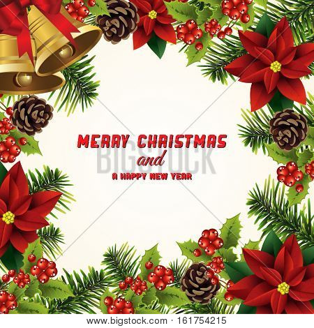 Christmas seamless background .Vector illustration