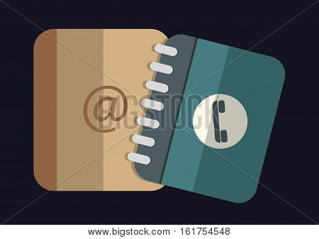 contact and address book icons image vector illustration design