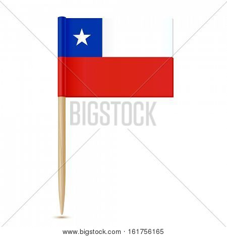 Chile Flag toothpick  on white background 10eps