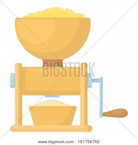 Meat grinder icon. Cartoon illustration of meat grinder vector icon for web