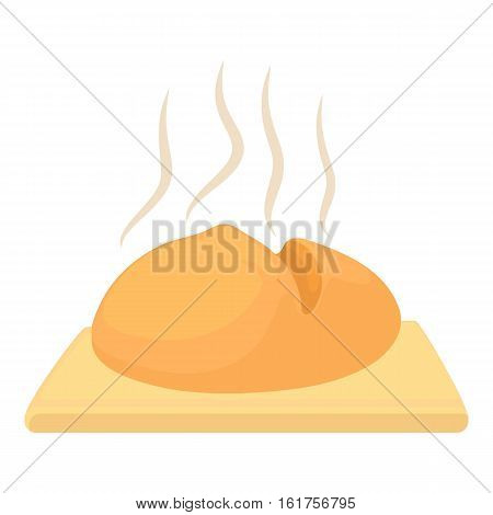 Fresh loaf icon. Cartoon illustration of fresh loaf vector icon for web