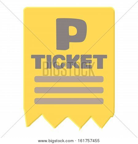 Parking ticket icon. Cartoon illustration of parking ticket vector icon for web