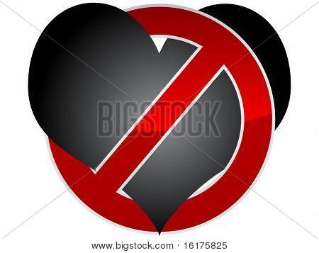 (raster image of vector) forbidden love