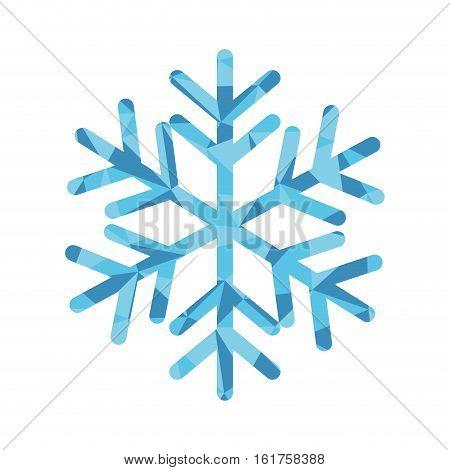 winter snowflake icon over white background. colorful design. vector illustraiton