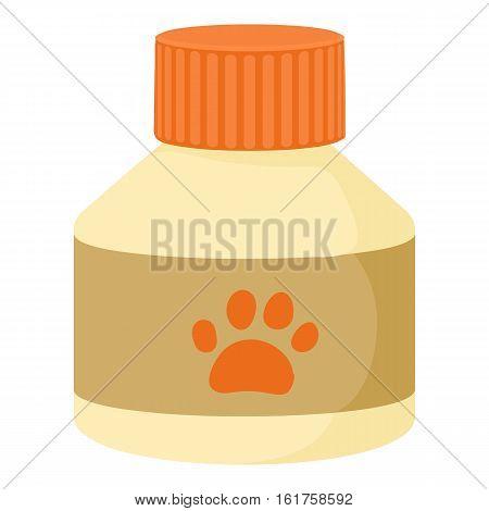 Pet medicine icon. Cartoon illustration of pet medicine vector icon for web