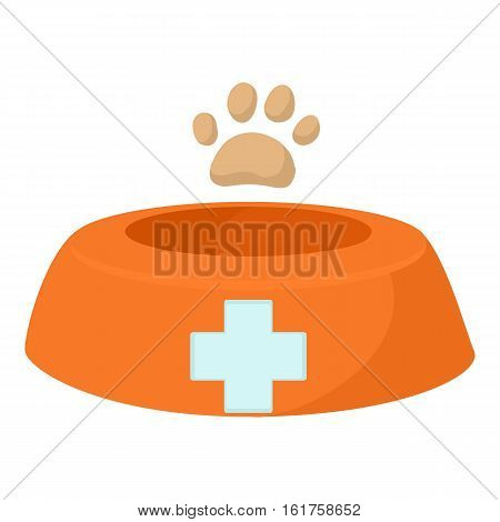Dog bowl icon. Cartoon illustration of dog bowl vector icon for web