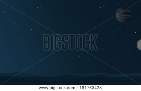 At night space landscape vector collection stock