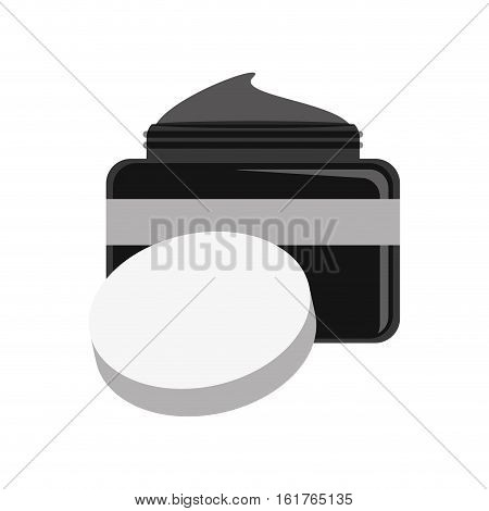 moisturizer facial cream icon over white background. makeup and cosmetic concept. vector illustration
