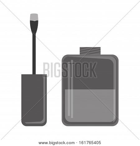 nail lacquer icon over white background. vector illustration