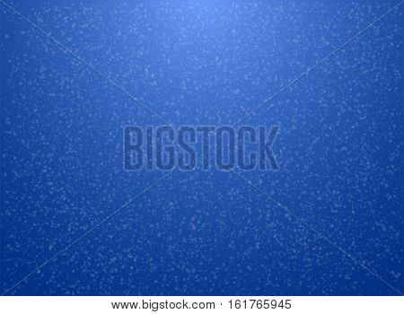 Blue Christmas background with snowflakes. Vector illustration