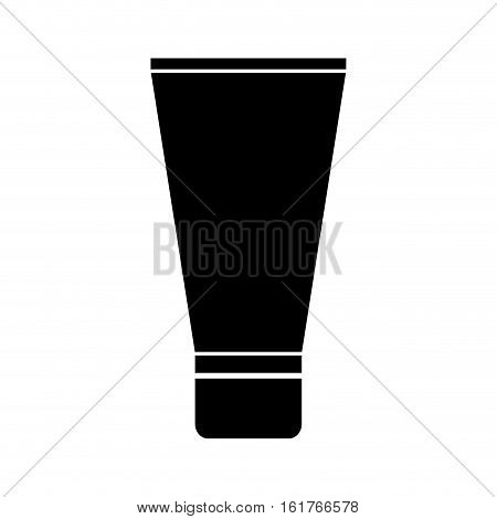 face bb cream icon over white background. makeup concept. vector illustration