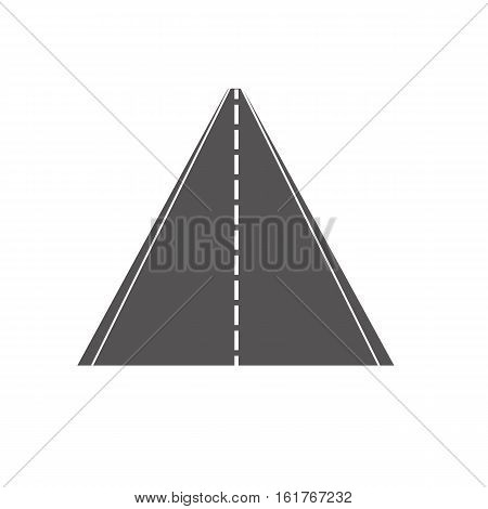 road icon on white background road symbol.