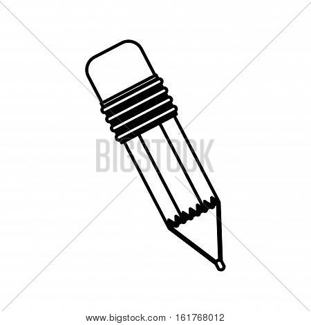 Pencil tool icon. Write office object and instrument theme. Isolated design. Vector illustration