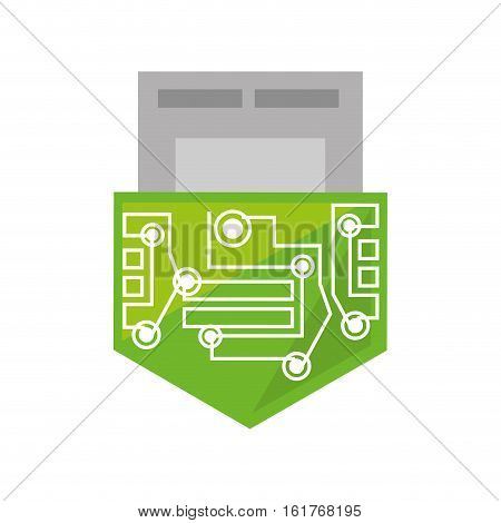 usb circuit electronic hardware vector illustration eps 10