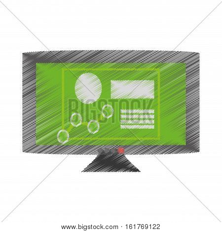drawing computer technical circuit electronic vector illustration eps 10