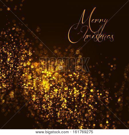 Festive glitter Christmas bokeh background easy all editable