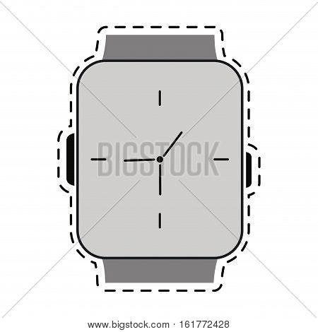 classic analog watch line vector illustration eps 10