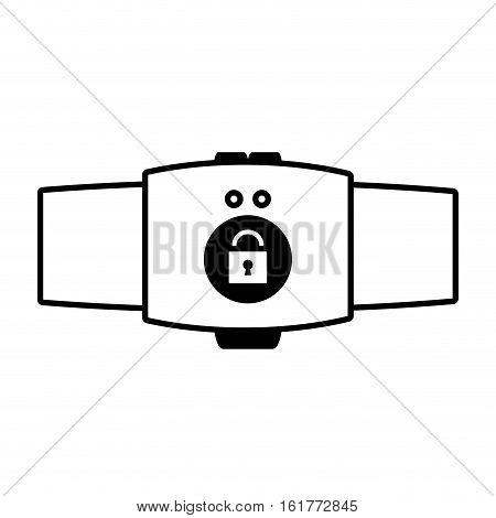 smart watch intelligence wearable technology outline vector illustration eps 10