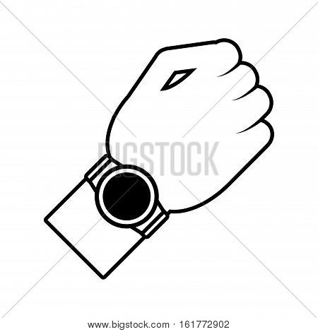 smart watch wearable new wearable outline vector illustration eps 10