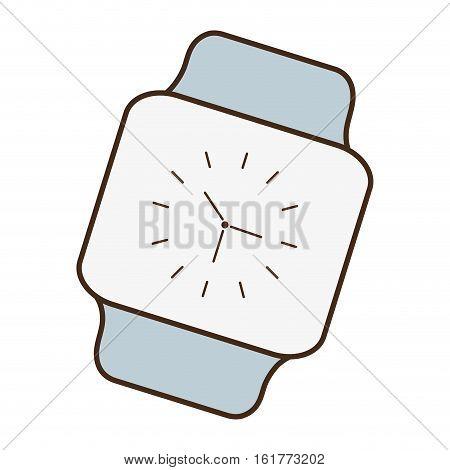 cartoon classic analog watch wearable technology vector illustration eps 10