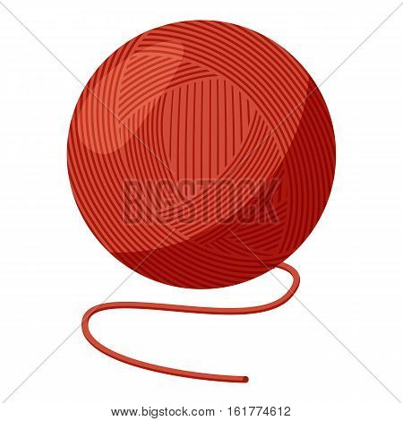Ball of yarn icon. Cartoon illustration of ball of yarn vector icon for web