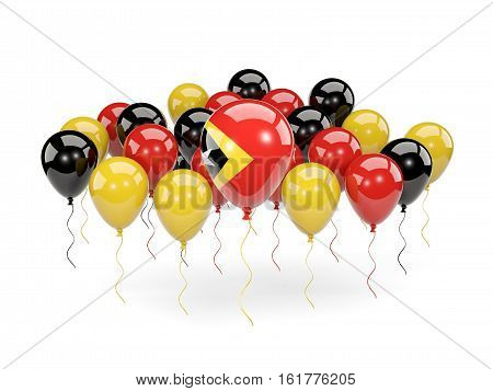 Flag Of East Timor With Balloons