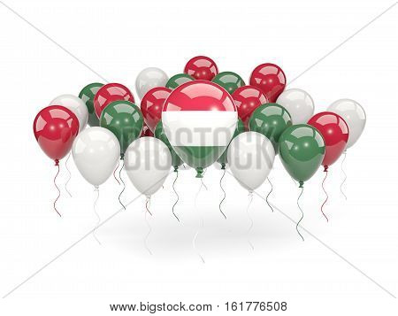 Flag Of Hungary With Balloons