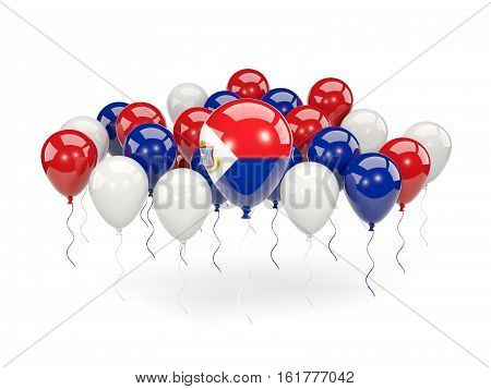 Flag Of Sint Maarten With Balloons