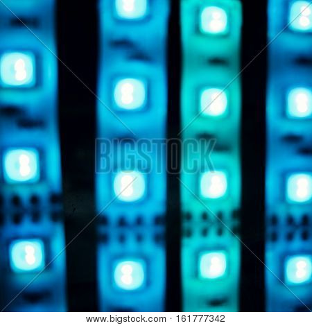Blue lights, glowing abstract background.