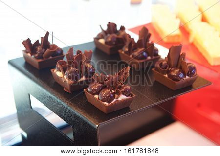 Chocolate Canapes Food