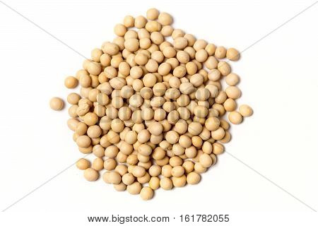 Dehydrated Soy Beans Isolated On White Background