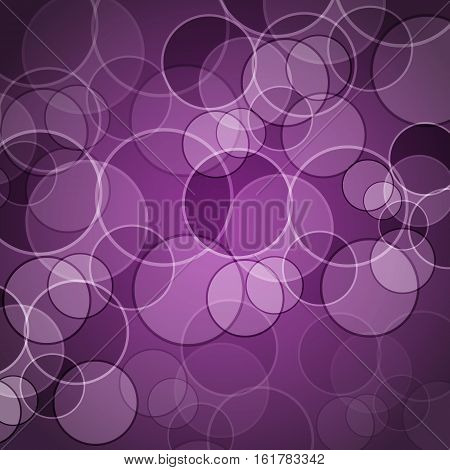 Abstract purple background with circles, stock vector