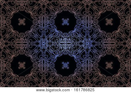 pattern in rococo style victorian style in renaissance style in baroque style. Vector illustration.