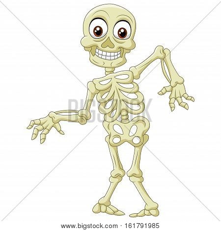 Vector illustration of Halloween Frankenstein Mascot on white background