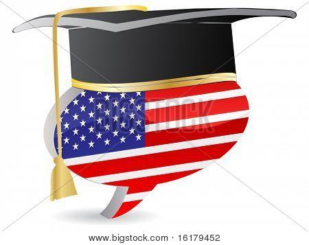 (raster image of vector) american graduation