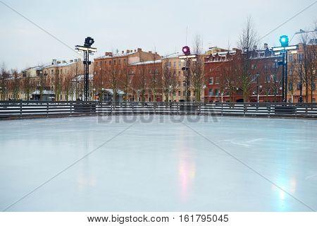 Empty skating rink