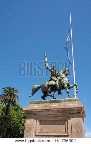 Sculpture of General Belgrano in Plaza de Mayo in Buenos Aires (Argentina)