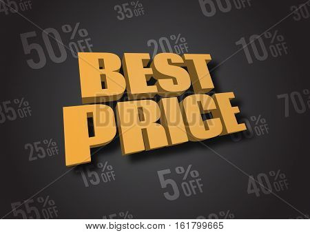 A 3D illustration of words Best Price
