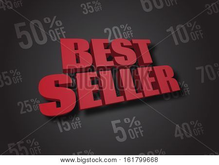 A 3D illustration of words Best Seller