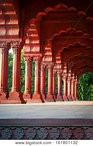 Arcade at the Red Fort Delhi India