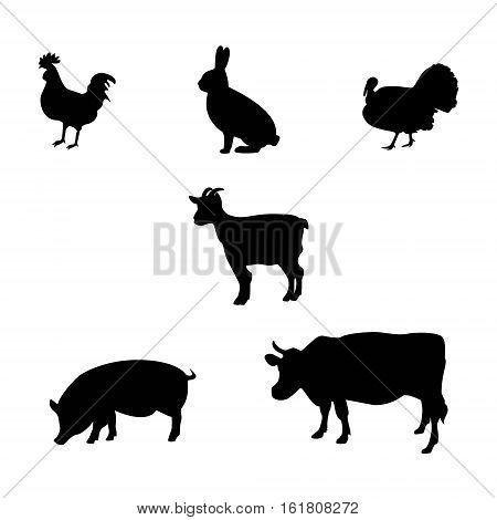 Farm Animals Silhouette