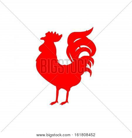 Red Rooster Silhouette