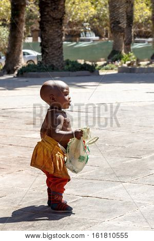 Unidentified Himba Baby Tribe In Namibia